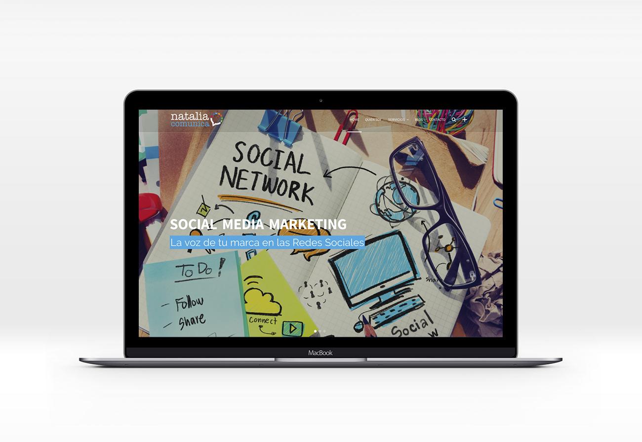 Diseño de web responsive - Natalia Comunica