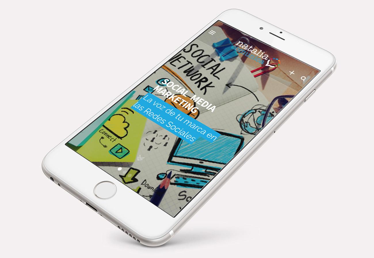 Diseño de web - Natalia Comunica