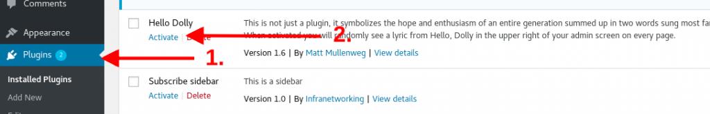 Desactivar plugins de WordPress